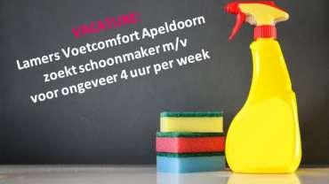 Vacature: schoonmaakhulp 4 uur per week
